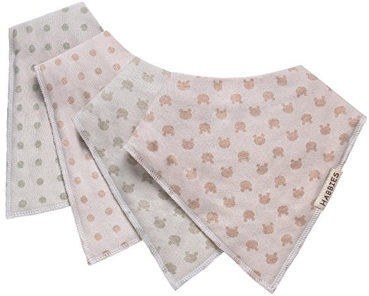 Habbies Baby Naturally Colored Organic Cotton Drool Bibs