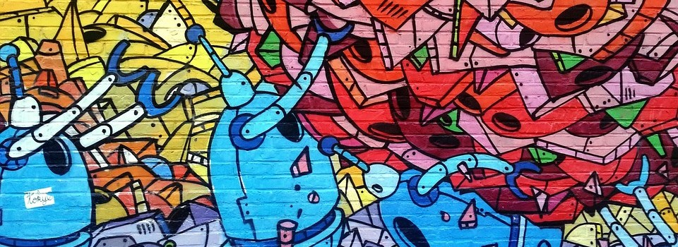 Image of colorful street art that could decorate your home.