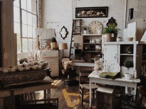 Search local shops, for your new shabby chick decor.