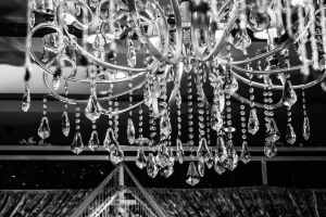 A crystal chandelier as part of Brooklyn home decoration