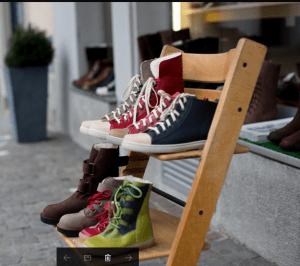 little ladders with shoes
