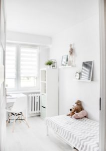 Kids room designed in minimalist style