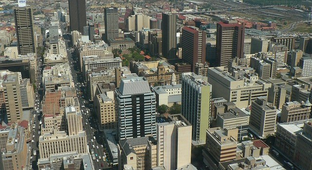 A panoramic view of Joburg, which you will see after relocating to Johannesburg.
