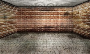 walls inside a storage unit