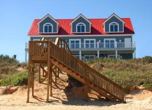 House on a beach.
