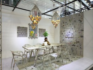 Nice dining room with interesting details