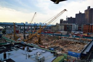 A building construction site.