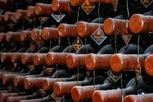 A wine cellar.