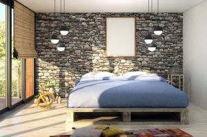 A bedroom filled with natural ight.