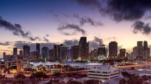A view of MIami in the evening.