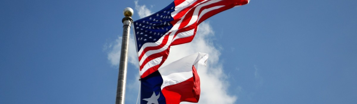 Texas flag's you'll see after moving to Allen