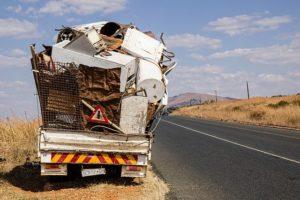 Scrap iron in a truck.