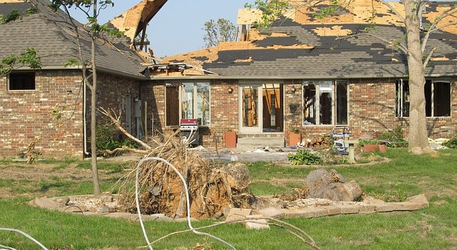A tornado devastated home which proves that it is necessary to tornado-proof your Chicago home.