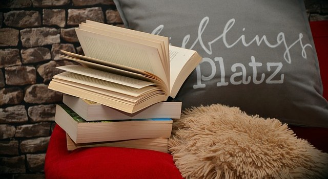 "Books, pillows and blankets that are perfect when setting up a ""reading corner""."