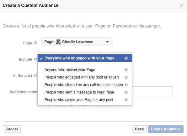 target Facebook custom audience