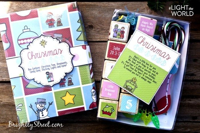 Brightly Street Christmas-in-a-Box Inside Box #LIGHTtheWORLD