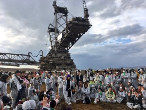 Protesters with Ende Gelände shut down Germany's largest lignite mine on Nov. 5, 2017.