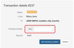 enter your moneygram tracking number