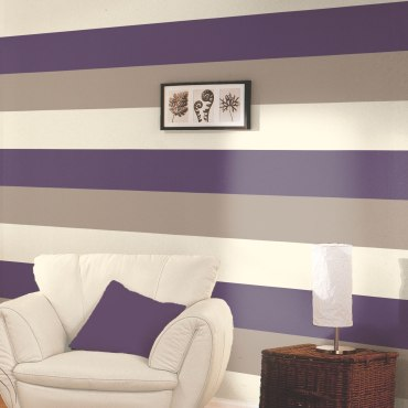 DWA059 - Stripe Wallpaper - Purple / Coffee / Cream - E40936