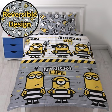 DSP118 - Despicable Me Minions Jailbird Single Duvet Cover Set (Also available in Double)