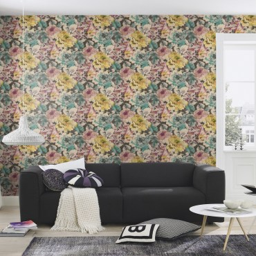 RAS137-Florentine-Floral-Wallpaper-Black-Plum-EA