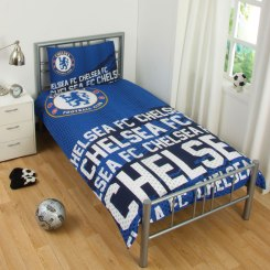 CHE172 - Chelsea FC Impact Single Duvet Cover and Pillowcase Set
