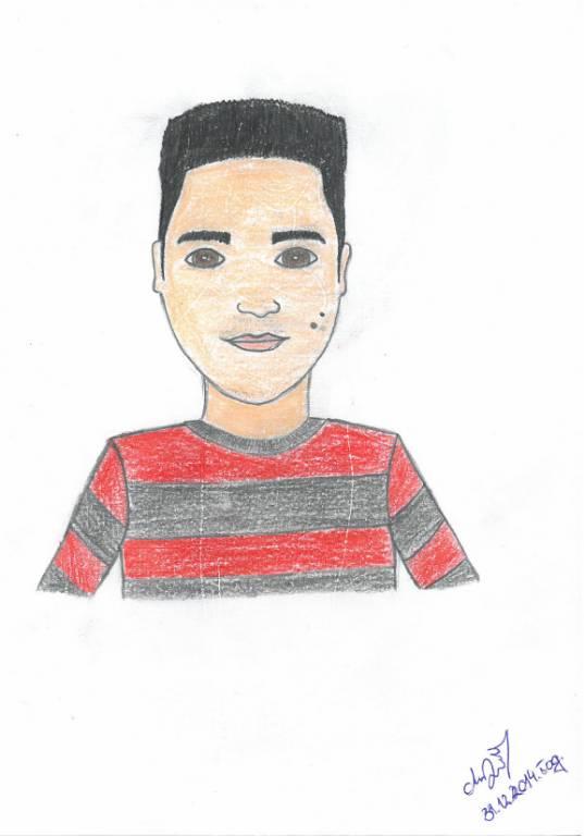 Učenik Lazar Delić nacrtao je karikaturu svog nastavnika