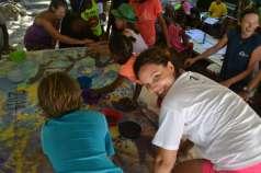 Slikanje na platnu kao jedna od radionica sa decom