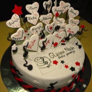Ovu svečanu tortu napravila je majka Nikole Milenkovića