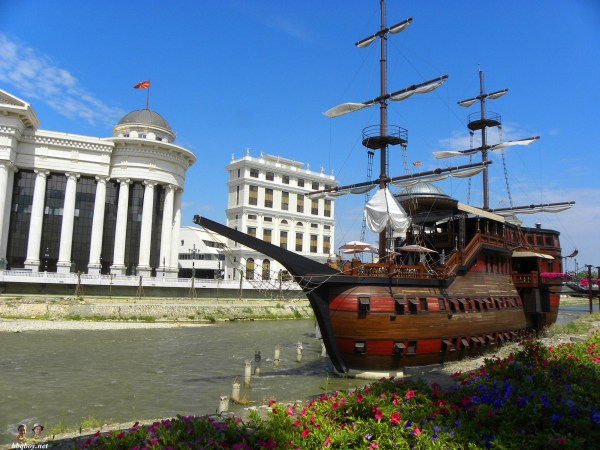 skopje-boat-on-river-macedonia