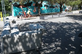 Street furniture also acting as barriers