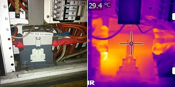normal camera vs thermographic camera 7