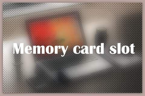 Memory card slot
