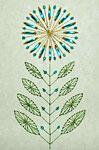 A beaded flower card at Needle 'n Thread