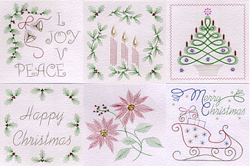 Christmas prick and stitch patterns