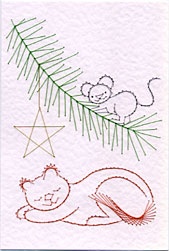 Christmas cat and mouse