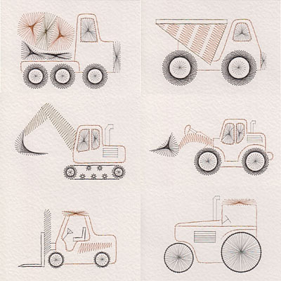 Construction vehicle patterns