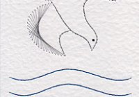 Baptism dove pattern at Stitching Cards