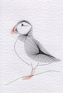 Puffin pattern added at Stitching Cards