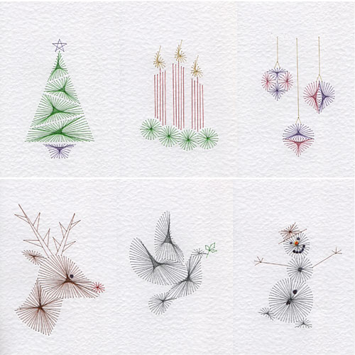 Quick Christmas patterns at Stitching Cards