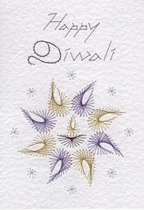 Diwali pattern at Stitching Cards