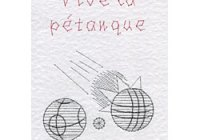 Pétanque pattern at Stitching Cards