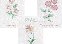 Oct, Nov, Dec, birth flower patterns at Form-A-Lines