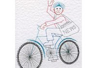 Paper boy pattern at Stitching Cards