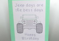 Jeep pattern at Stitching Cards