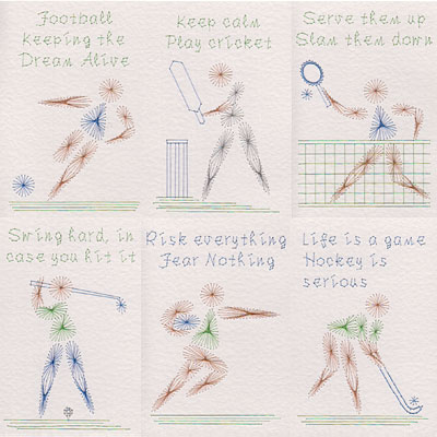 More sports patterns added at Stitching Cards