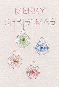Free Merry Christmas baubles pattern from PinBroidery