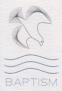 Baptism pattern added at Stitching Cards
