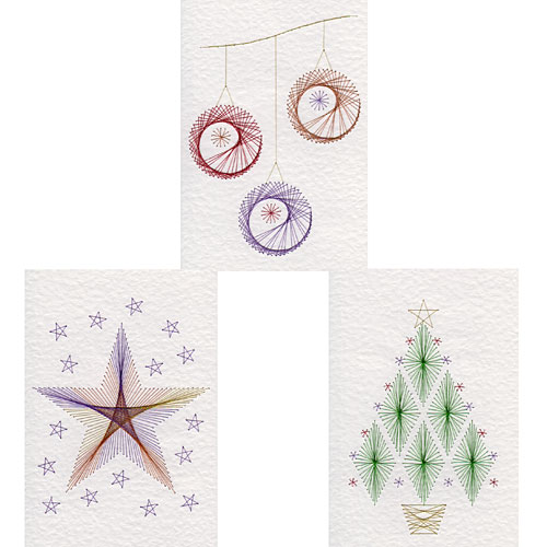 Christmas and flower stitching patterns added at Form-A-Lines