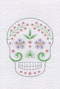 Sugar skull pattern added at Stitching Cards